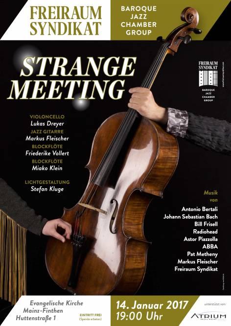 Plakat STRANGE MEETING (Beispiel)